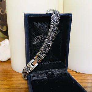 ⚜️MARCASITE GEMSTONE Tennis Bracelet Vintage